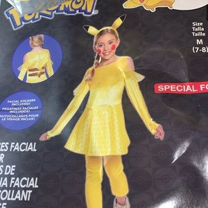 NWT pikachu girls costume from target